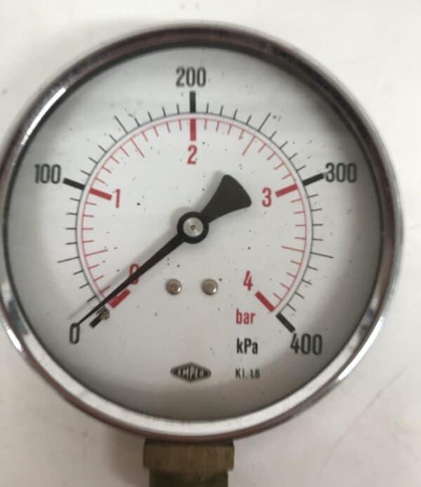 Iso painemittari Empeo 0-4bar mekaaninen näyttö 100 mm