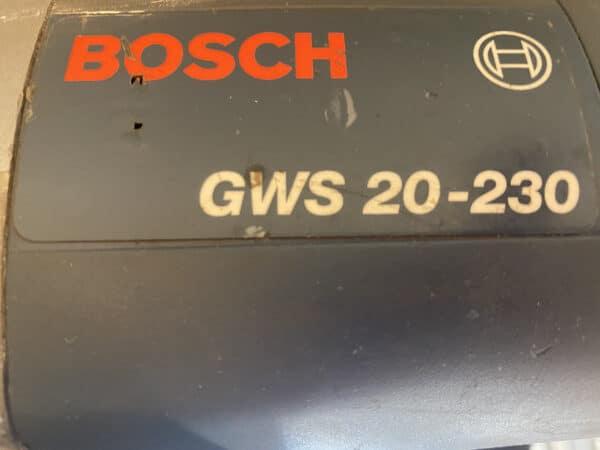 Kulmahiomakone BOSCH GWS 20-230 varaosiksi