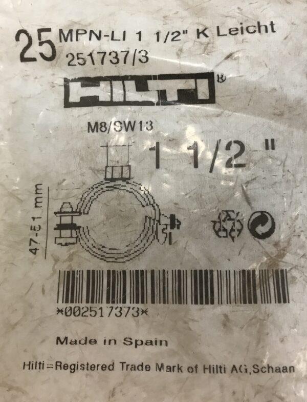 Hilti putkenpidin MPN-LI 1 1/2″ K 47-51 mm