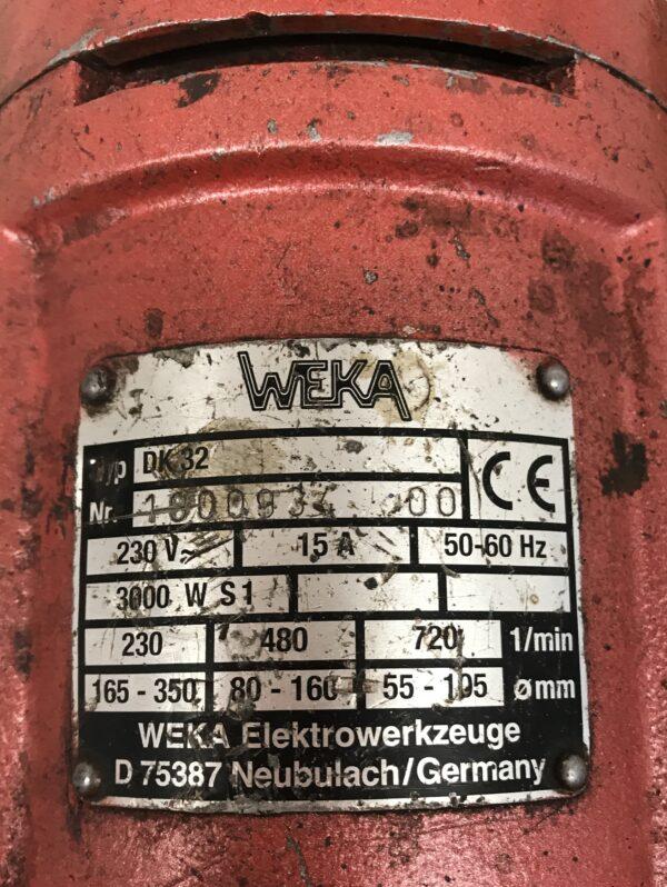WEKA DK32 3 vaihteinen timanttiporakone varaosiksi