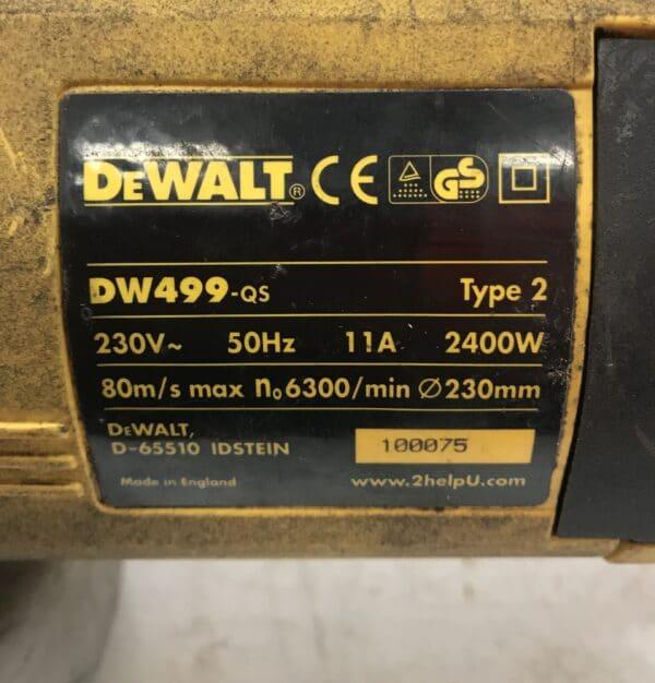 kulmahiomakone DeWALT DW 499-q5 Type 2