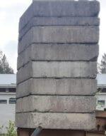 Betonipaino 2200 kg ja 1100 kg