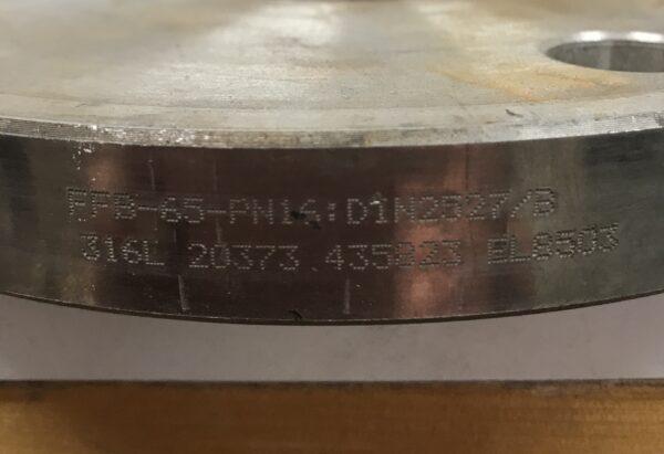Putkilaippa sisäkierteellä 185 mm FFB-65-PN16:DIN