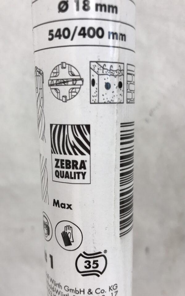 Ø 18 mm poraussyvyys 400 mm