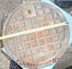 Pyöreä valurautainen kaivonkansi halkaisija 30 cm