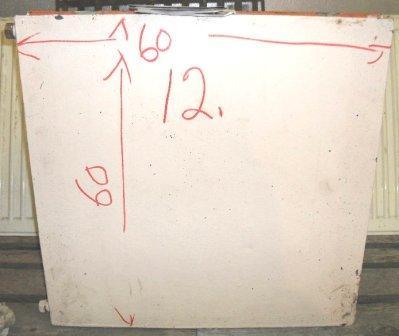 Vesikiertopatteri 60 x 60 cm